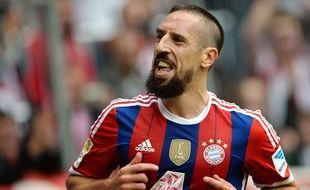 Franck Ribéry sous le maillot du Bayern Munich le 13 septembre 2014.