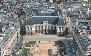 Vue en 3D du Parlement de Bretagne via l'application Plans.