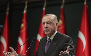 Le président de la Turquie, Recep Tayyip Erdogan, à Ankara le 14 décembre 2020.