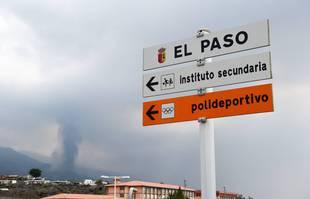 L'éruption du volcan Cumbre Vieja sur l'île de La Palma dans les îles Canaries, en Espagne, le 21 septembre 2021.