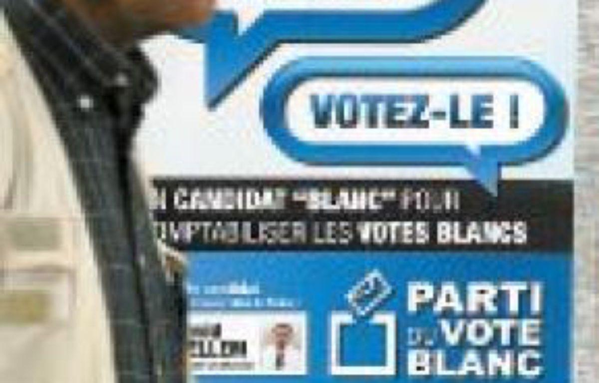 Une affiche du Parti du vote blanc. –  C. VILLEMAIN / 20 minutes
