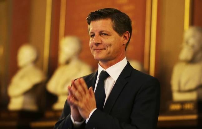 Nicolas Florian, au moment de sa proclamation en tant que maire de Bordeaux.