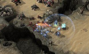Capture d'écran d'une partie de «StarCraft 2».