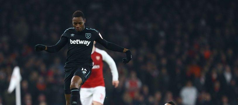 Diafra Sakho sous le maillot de West Ham.