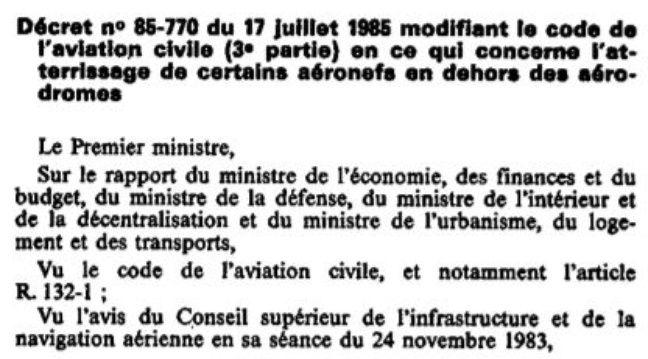 Le fameux décret 85-770 du 25 juillet 1985.