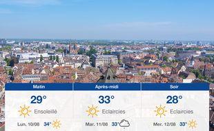 Météo Strasbourg: Prévisions du dimanche 9 août 2020