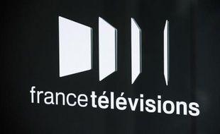 Photo prise le 28 août 2008 à Paris du logo du groupe audiovisuel public France Télévisions
