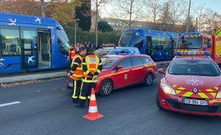 Les deux tramways sont entrés en collision dans le CHU de Montpellier.