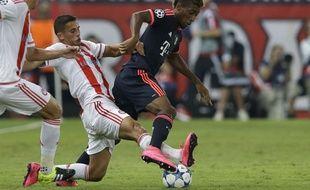 Kingsley Coman a brillé lors de la victoire du Bayern Munich sur le terrain de l'Olympiakos (0-3) en Ligue des champions, le 16 septembre 2015.