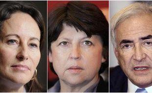 Ségolène Royal, Martine Aubry et Dominique Strauss-Kahn.