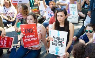 Des manifestions ont eu lieu vendredi 1er juin, notamment à Washington, contre une mesure visant à séparer les enfant de leurs parents migrants.