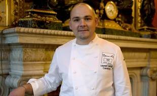 "Le cuisinier Laurent Lemal sacré ""Bocuse d'or France"", le 22 septembre 2015 à Paris"
