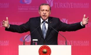 Le Président turc Tayyip Erdogan à Ankara en juin 2015.