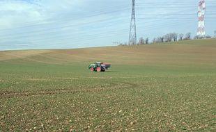 Un agriculteur répand des semences dans un champ (Illustration).