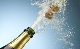 Illustration d'un bouchon de champagne qui saute