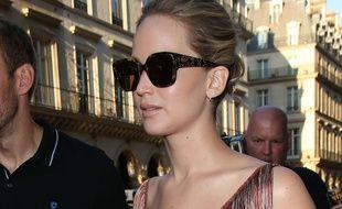 Jennifer Lawrence à la fashion week de Paris le 3 juillet 2017