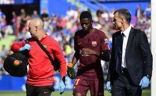 Ousmane Dembélé est sorti sur blessure contre Getafe, le 16 septembre 2017.