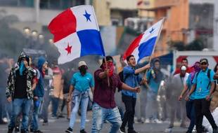 Des manifestants le 30 octobre 2019 à Panama City.