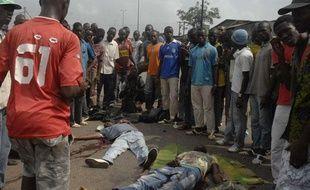 Plusieurs personnes sont mortes lors de la marche des pro-Ouattara à Abidjan le 16 décembre 2010.