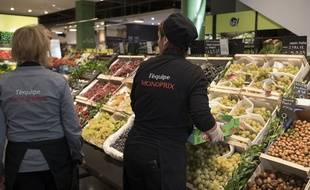 2a3b5c859f0 Le rayon d un supermarché Monoprix à Paris.