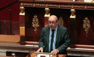 Le ministre de la Défense Jean-Yves Le Drian, le 25 février 2014 à l'Assemblée nationale