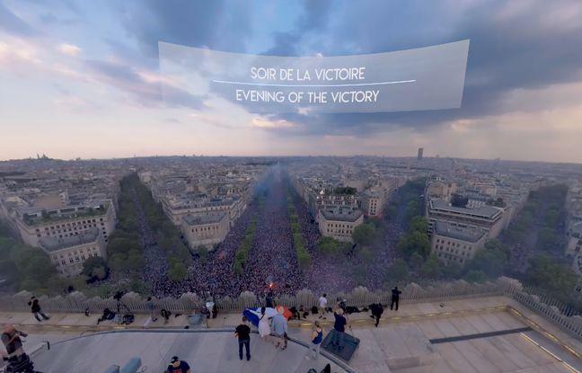 Les utilisateurs du casque de réalité virtuelle peuvent revivre la victoire des Bleus le 15 juillet 2018.