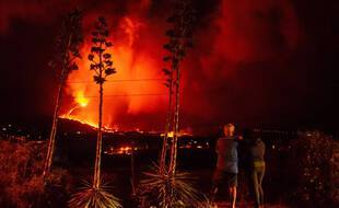 L'éruption du volcan Cumbre Vieja dure depuis un mois à La Palma, sur les îles Canaries (Espagne), le 14 Octobre 2021