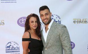 La chanteuse Britney Spears brune, en septembre dernier, avec son compagnon Sam Asghari