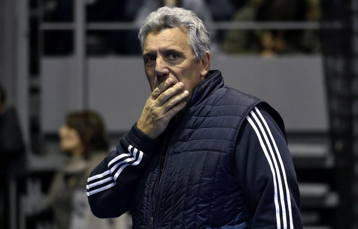 Le manager général de l'équipe de France de handball Claude Onesta, lors d'un entraînement à Toulouse, le 4 janvier 2017. – P. Pavani / AFP