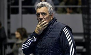 Le manager général de l'équipe de France de handball Claude Onesta, lors d'un entraînement à Toulouse, le 4 janvier 2017.