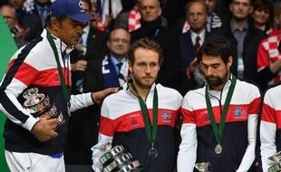 La déception de l'équipe de France après sa défaite en finale de la coupe Davis