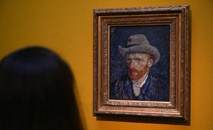 Un autoportrait du peintre Van Gogh. Illustration
