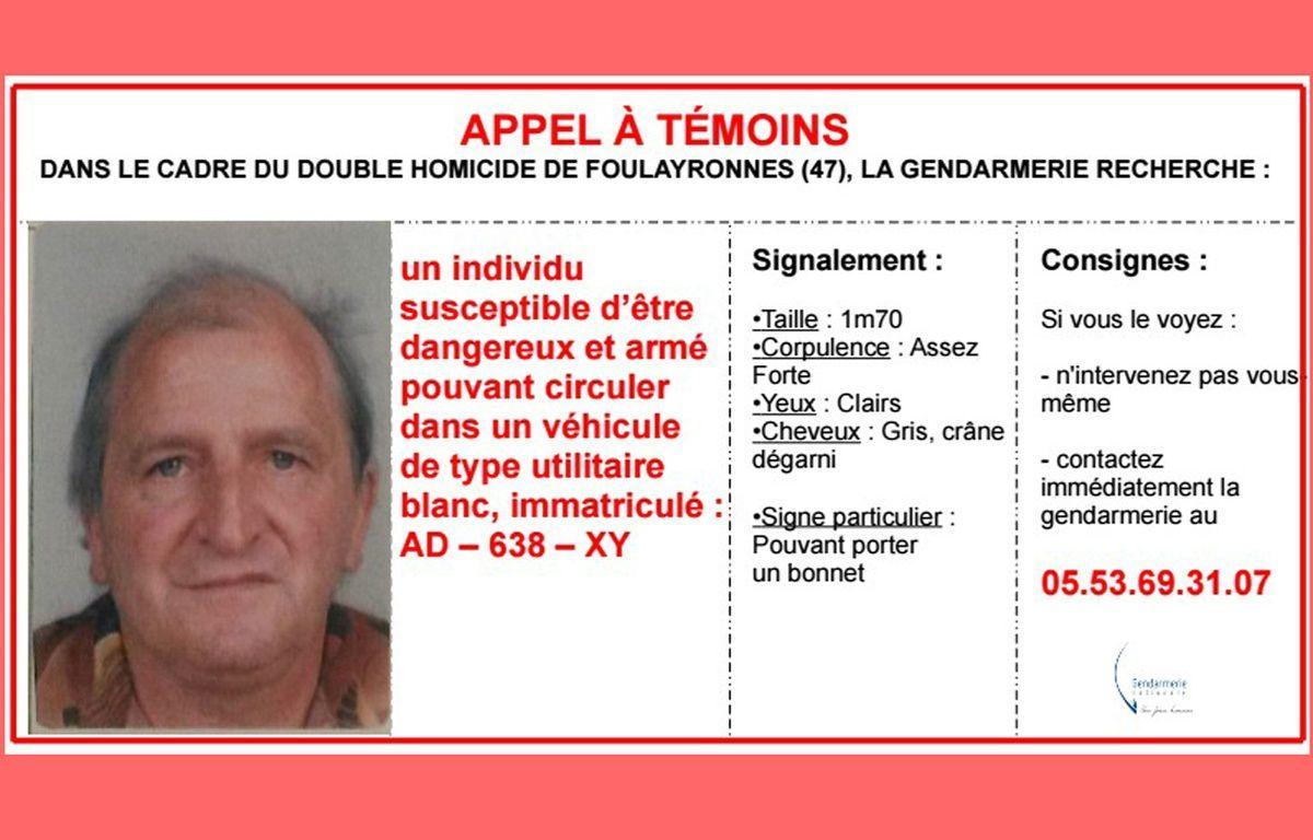 Appel à témoins lancé par la gendarmerie nationale le 3 décembre 2015. – Gendarmerie nationale