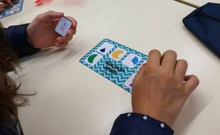 Le Fraction bingo, un jeu destiné à travailler les fractions en s'amusant. Idéal en petit groupe lors d'un stage de réussite de fin d'été au collège Rouget-de-Lisle à Schiltigheim.