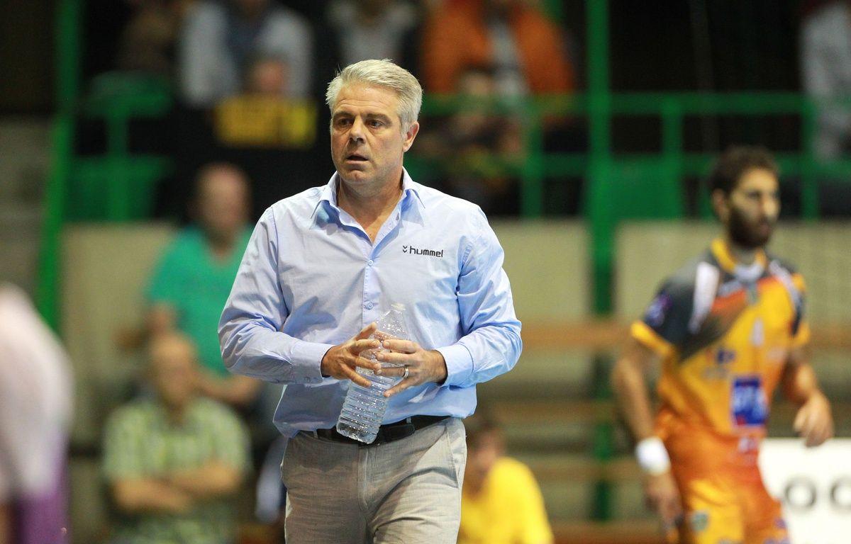L'entraîneur du HBC Nantes Thierry Anti. – Pierre Minier / Ouest Médias / SIPA