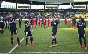 Le désarroi des Nantais à l'issue de la défaite (4-2) contre Nîmes.