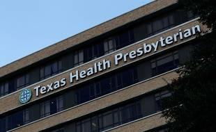 Vue du Texas Health Presbyterian Hospital de Dallas, où le premier cas d'infection au virus Ebola a été pour la première fois diagnostiqué hors d'Afrique le 30 septembre 2014.   Mike Stone/Getty Images/AFP