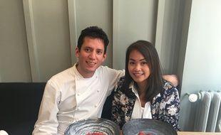 Le chef Indra Carrillo et Nathalie J. à La Condesa