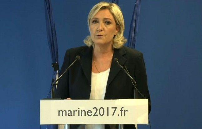 Marine Le Pen (FN) dénonce les