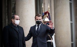 Emmanuel Macron et Abdel Fattah Al-Sissi, le 7 décembre 2020 à Paris.