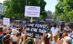 Une manifestation contre les violences faites aux femmes à Paris (image d'illustration).