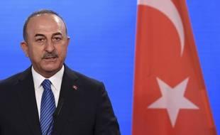 Le ministre turc des Affaires étrangères, Mevlut Cavusoglu, à Berlin le 6 mai 2021 (illustration).