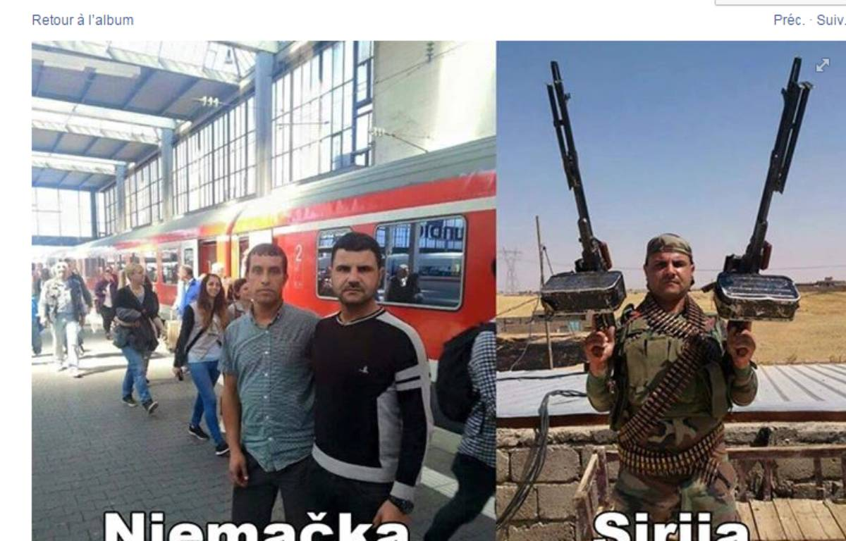Capture d'écran d'un photomontage publié sur Facebook par un site nationaliste croate. – DR