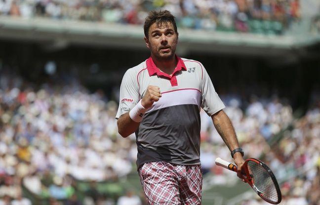 Stan Wawrinka et son fameux short à carreaux lors de l'édition 2015 de Roland-Garros.