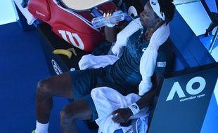 Gaël Monfils avait subi les avanies de la chaleur face à Djokovic en 2017 à Melbourne.