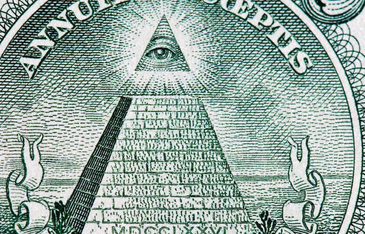 Agrandissement du billet d'un dollar américain. – capture d'écran (vidéo)