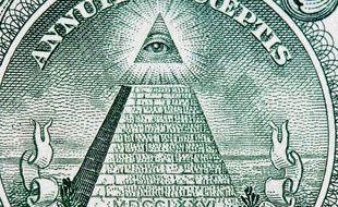 Agrandissement du billet d'un dollar américain.