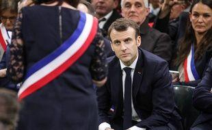 Emmanuel Macron, le 15 janvier 2018 à Grand Bourgtheroulde.