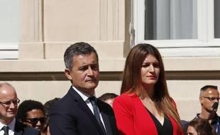 Marlène Schiappa, nommée ministre déléguée à la Citoyenneté, sous la tutelle de Gérald Darmanin, nouveau ministre de l'Intérieur.