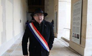 Jean-Luc Mélenchon lors de l'hommage national à Arnaud Beltrame.
